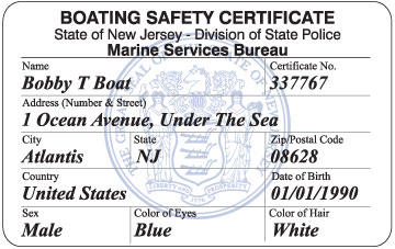 NJ Boating Certificate