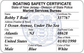 NJ Boating Certificate